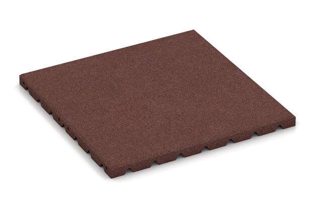 Fitness-Boden von WARCO im Farbdesign schokobraun mit den Abmessungen 500 x 500 x 30 mm. Produktfoto von Artikel 3975 in der Aufsicht von schräg vorne.