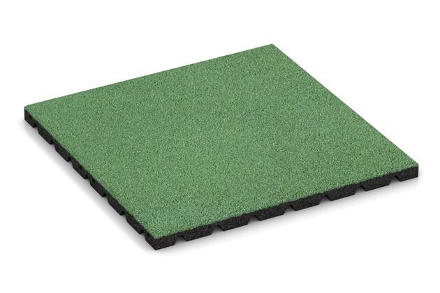Fallschutzplatte von WARCO im Farbdesign Blaßgrün mit den Abmessungen 500 x 500 x 30 mm. Produktfoto von Artikel 0547 in der Aufsicht von schräg vorne.