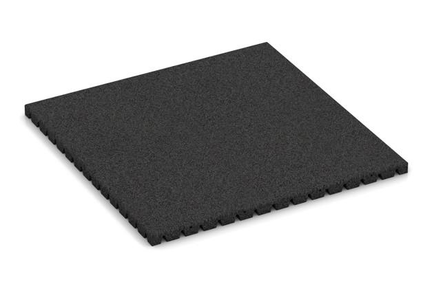 Fallschutzmatte von WARCO im Farbdesign anthrazit mit den Abmessungen 1000 x 1000 x 45 mm. Produktfoto von Artikel 0828 in der Aufsicht von schräg vorne.