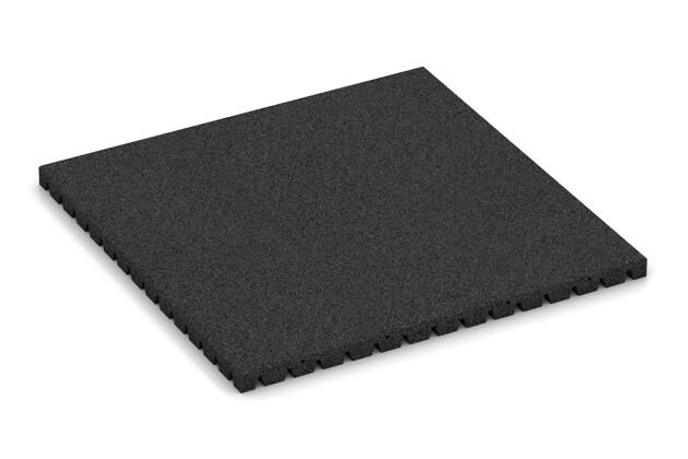 Fallschutzmatte von WARCO im Farbdesign anthrazit mit den Abmessungen 1000 x 1000 x 50 mm. Produktfoto von Artikel 0846 in der Aufsicht von schräg vorne.