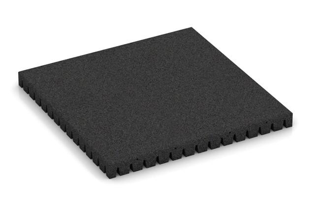 Fallschutzmatte von WARCO im Farbdesign anthrazit mit den Abmessungen 1000 x 1000 x 80 mm. Produktfoto von Artikel 0858 in der Aufsicht von schräg vorne.