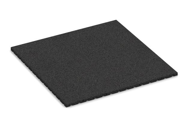 Fallschutzmatte von WARCO im Farbdesign anthrazit mit den Abmessungen 1000 x 1000 x 30 mm. Produktfoto von Artikel 0756 in der Aufsicht von schräg vorne.