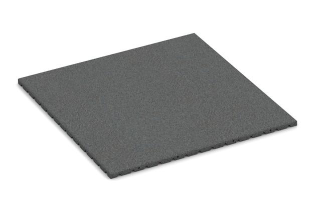 Fallschutzmatte von WARCO im Farbdesign schiefergrau mit den Abmessungen 1000 x 1000 x 30 mm. Produktfoto von Artikel 0759 in der Aufsicht von schräg vorne.