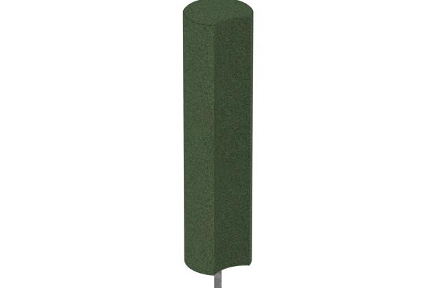 Gummigranulat-Palisade von WARCO im Farbdesign grasgrün mit den Abmessungen ø 250 x 1000 mm. Produktfoto von Artikel 2570 in der Aufsicht von schräg vorne.
