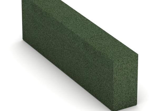Gummi-Bordstein (Blockstufe) von WARCO im Farbdesign grasgrün mit den Abmessungen 1000 x 300 x 150 mm. Produktfoto von Artikel 2600 in der Aufsicht von schräg vorne.