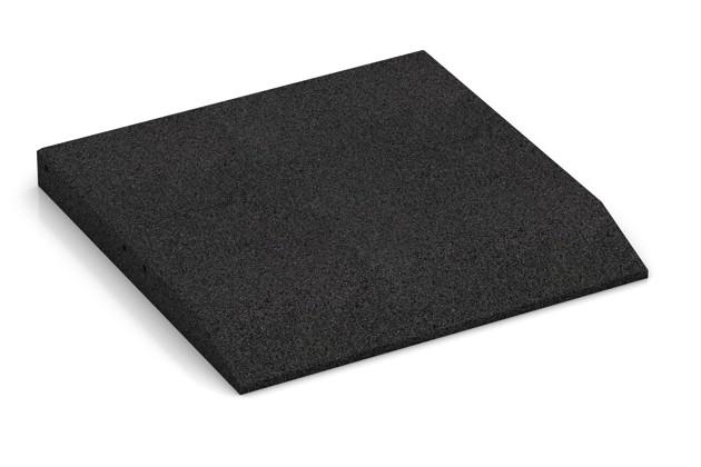 Rand-Platte (eine Seite abgeschrägt) von WARCO im Farbdesign anthrazit mit den Abmessungen 500 x 500 x 50 mm. Produktfoto von Artikel 0443 in der Aufsicht von schräg vorne.