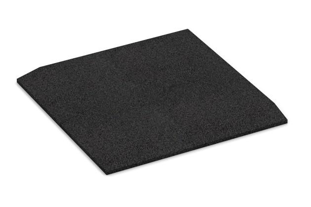 Eck-Platte (zwei Seiten abgeschrägt) von WARCO im Farbdesign anthrazit mit den Abmessungen 500 x 500 x 30 mm. Produktfoto von Artikel 0467 in der Aufsicht von schräg vorne.