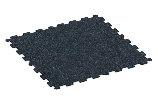 Fitnessmatte von WARCO im Farbdesign Leicht Blau Gesprenkelt mit den Abmessungen 970 x 970 x 8 mm. Produktfoto von Artikel 1054 in der Aufsicht von schräg vorne.