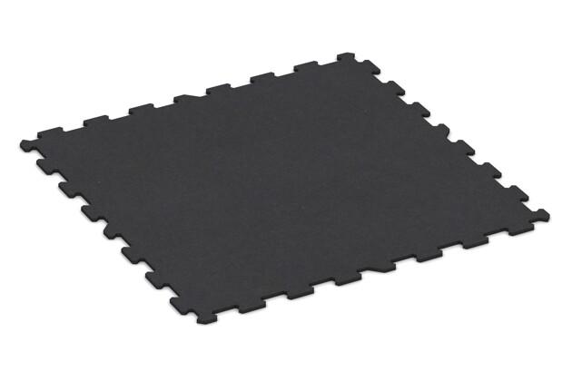 Fitnessmatte von WARCO im Farbdesign anthrazit matt mit den Abmessungen 970 x 970 x 10 mm. Produktfoto von Artikel 1081 in der Aufsicht von schräg vorne.