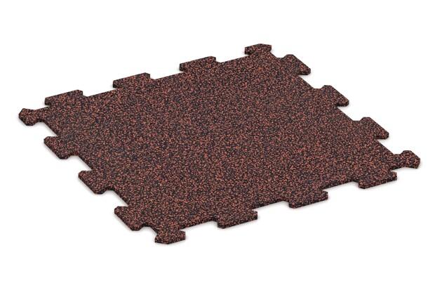 Treppenbelag von WARCO im Farbdesign Rot Gesprenkelt mit den Abmessungen 478 x 478 x 8 mm. Produktfoto von Artikel 0897 in der Aufsicht von schräg vorne.