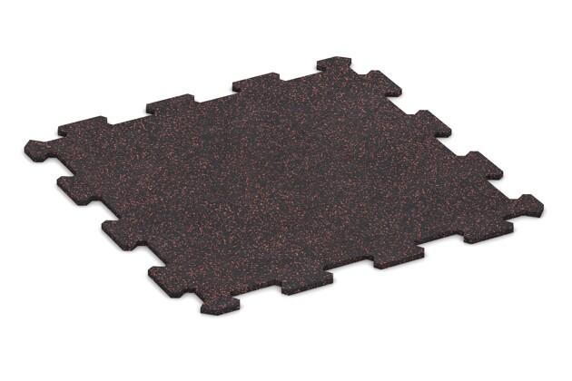 Fitnessmatte von WARCO im Farbdesign Leicht Rot Gesprenkelt mit den Abmessungen 485 x 485 x 8 mm. Produktfoto von Artikel 0912 in der Aufsicht von schräg vorne.
