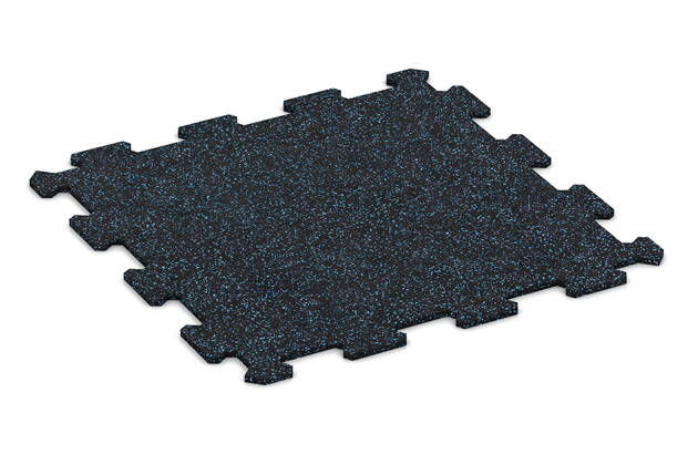 Treppenbelag von WARCO im Farbdesign Leicht Blau Gesprenkelt mit den Abmessungen 485 x 485 x 8 mm. Produktfoto von Artikel 0901 in der Aufsicht von schräg vorne.