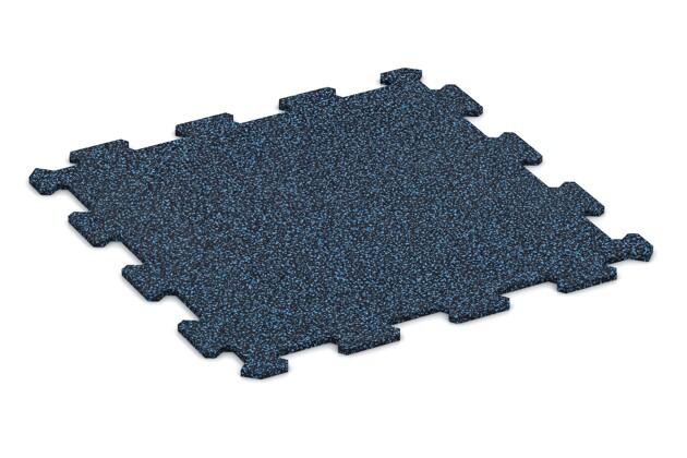 Treppenbelag von WARCO im Farbdesign Blau Gesprenkelt mit den Abmessungen 485 x 485 x 8 mm. Produktfoto von Artikel 0900 in der Aufsicht von schräg vorne.