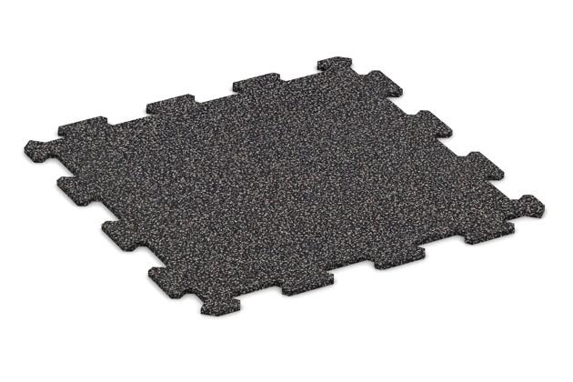 Treppenbelag von WARCO im Farbdesign Grau Gesprenkelt mit den Abmessungen 485 x 485 x 8 mm. Produktfoto von Artikel 0903 in der Aufsicht von schräg vorne.