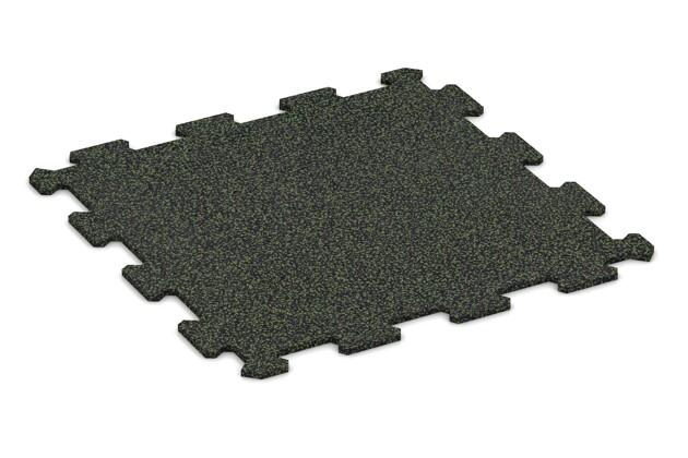 Treppenbelag von WARCO im Farbdesign Grün Gesprenkelt mit den Abmessungen 485 x 485 x 8 mm. Produktfoto von Artikel 0906 in der Aufsicht von schräg vorne.