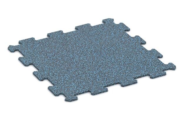 Treppenbelag von WARCO im Farbdesign Stark Blau Gesprenkelt mit den Abmessungen 485 x 485 x 8 mm. Produktfoto von Artikel 0899 in der Aufsicht von schräg vorne.