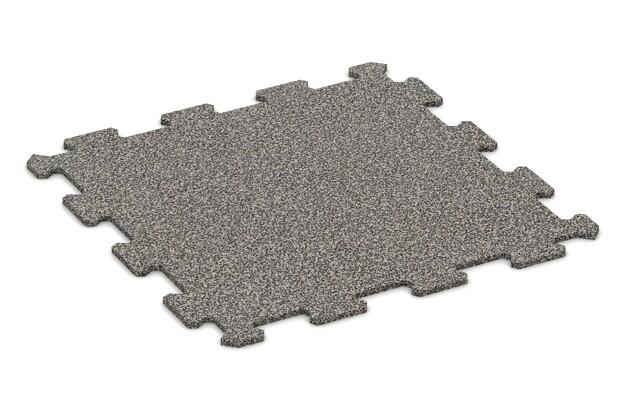 Treppenbelag von WARCO im Farbdesign Stark Grau Gesprenkelt mit den Abmessungen 485 x 485 x 8 mm. Produktfoto von Artikel 0902 in der Aufsicht von schräg vorne.