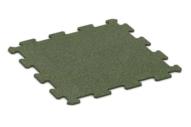 Treppenbelag von WARCO im Farbdesign Stark Grün Gesprenkelt mit den Abmessungen 485 x 485 x 8 mm. Produktfoto von Artikel 0907 in der Aufsicht von schräg vorne.