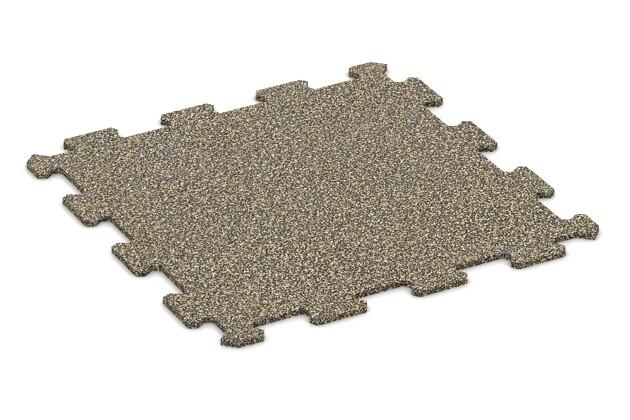 Treppenbelag von WARCO im Farbdesign Stark Gelb Gesprenkelt mit den Abmessungen 485 x 485 x 8 mm. Produktfoto von Artikel 0908 in der Aufsicht von schräg vorne.