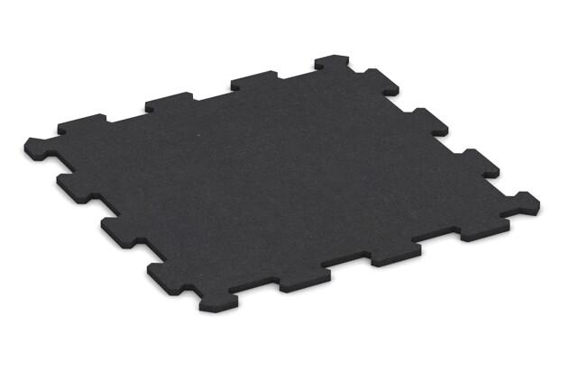 Fitnessmatte von WARCO im Farbdesign anthrazit matt mit den Abmessungen 485 x 485 x 10 mm. Produktfoto von Artikel 0943 in der Aufsicht von schräg vorne.