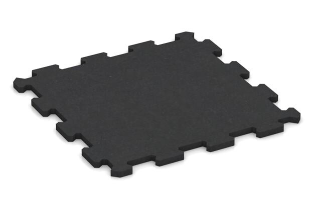 Fitnessmatte von WARCO im Farbdesign anthrazit matt mit den Abmessungen 485 x 485 x 16 mm. Produktfoto von Artikel 1003 in der Aufsicht von schräg vorne.