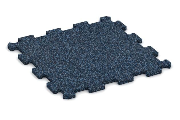 Treppenbelag von WARCO im Farbdesign Blau Gesprenkelt mit den Abmessungen 485 x 485 x 16 mm. Produktfoto von Artikel 0976 in der Aufsicht von schräg vorne.