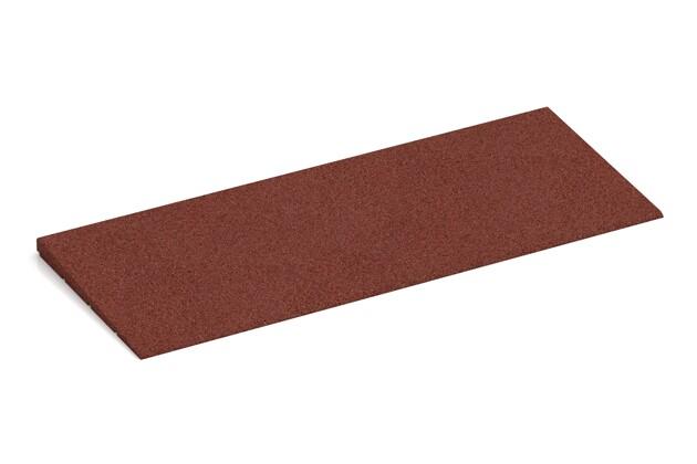 Anti-Stolper-Keil von WARCO im Farbdesign ziegelrot mit den Abmessungen 750 x 300 x 25/8 mm. Produktfoto von Artikel 2298 in der Aufsicht von schräg vorne.