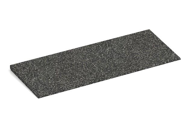 Anti-Stolper-Keil von WARCO im Farbdesign Dunkelgrauer Granit mit den Abmessungen 750 x 300 x 25/8 mm. Produktfoto von Artikel 2280 in der Aufsicht von schräg vorne.