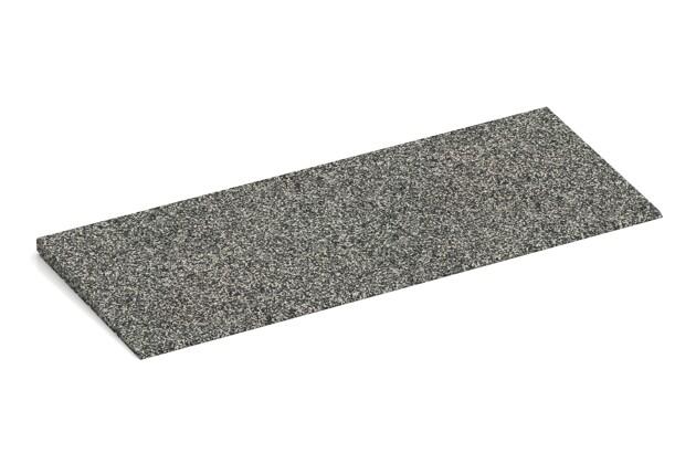 Anti-Stolper-Keil von WARCO im Farbdesign Grauer Granit mit den Abmessungen 750 x 300 x 25/8 mm. Produktfoto von Artikel 2277 in der Aufsicht von schräg vorne.