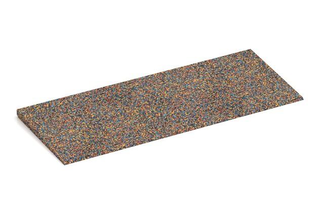 Anti-Stolper-Keil von WARCO im Farbdesign Papagei mit den Abmessungen 750 x 300 x 25/8 mm. Produktfoto von Artikel 2273 in der Aufsicht von schräg vorne.