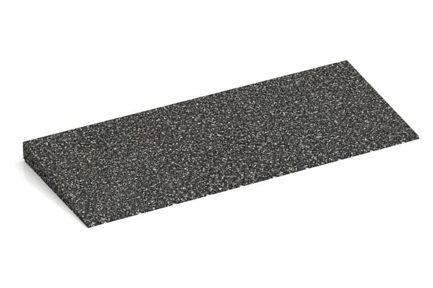 Anti-Stolper-Keil von WARCO im Farbdesign Dunkelgrauer Granit mit den Abmessungen 750 x 300 x 45/8 mm. Produktfoto von Artikel 2440 in der Aufsicht von schräg vorne.