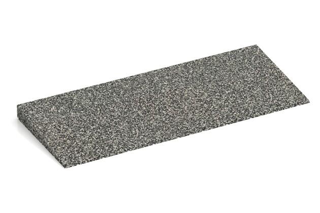 Anti-Stolper-Keil von WARCO im Farbdesign Grauer Granit mit den Abmessungen 750 x 300 x 45/8 mm. Produktfoto von Artikel 2437 in der Aufsicht von schräg vorne.