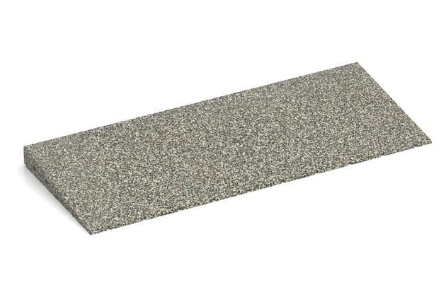 Anti-Stolper-Keil von WARCO im Farbdesign Heller Granit mit den Abmessungen 750 x 300 x 45/8 mm. Produktfoto von Artikel 2436 in der Aufsicht von schräg vorne.