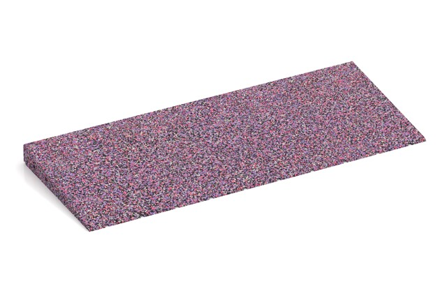 Anti-Stolper-Keil von WARCO im Farbdesign Lavendel mit den Abmessungen 750 x 300 x 45/8 mm. Produktfoto von Artikel 2435 in der Aufsicht von schräg vorne.