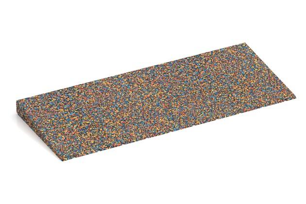 Anti-Stolper-Keil von WARCO im Farbdesign Papagei mit den Abmessungen 750 x 300 x 45/8 mm. Produktfoto von Artikel 2433 in der Aufsicht von schräg vorne.