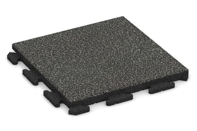 Fallschutz-Puzzlematte von WARCO im Farbdesign Dunkelgrauer Granit mit den Abmessungen 500 x 500 x 40 mm. Produktfoto von Artikel 1325 in der Aufsicht von schräg vorne.