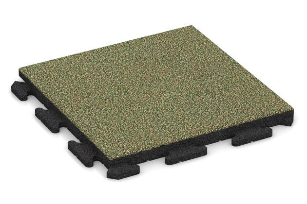 Terrassenplatte von WARCO im Farbdesign Savanne mit den Abmessungen 500 x 500 x 40 mm. Produktfoto von Artikel 1285 in der Aufsicht von schräg vorne.
