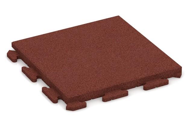 Terrassenplatte von WARCO im Farbdesign ziegelrot mit den Abmessungen 500 x 500 x 40 mm. Produktfoto von Artikel 1380 in der Aufsicht von schräg vorne.