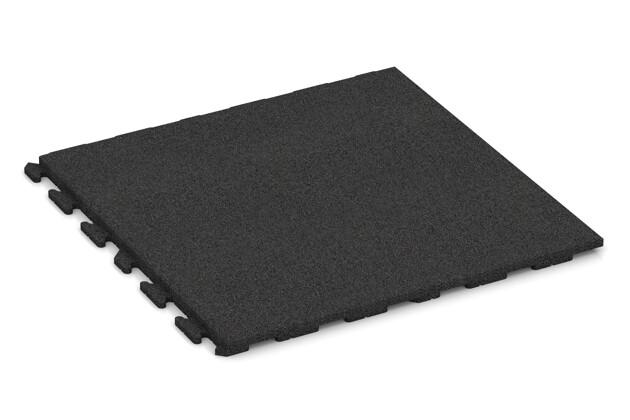 Fitness-Boden von WARCO im Farbdesign anthrazit mit den Abmessungen 1000 x 1000 x 40 mm. Produktfoto von Artikel 1710 in der Aufsicht von schräg vorne.