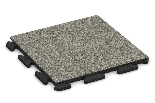Fitness-Boden von WARCO im Farbdesign Heller Granit mit den Abmessungen 500 x 500 x 30 mm. Produktfoto von Artikel 1222 in der Aufsicht von schräg vorne.