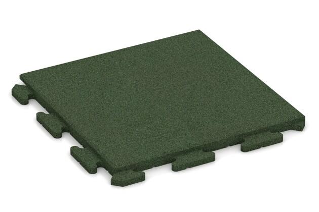 Terrassenplatte von WARCO im Farbdesign grasgrün mit den Abmessungen 500 x 500 x 30 mm. Produktfoto von Artikel 1250 in der Aufsicht von schräg vorne.