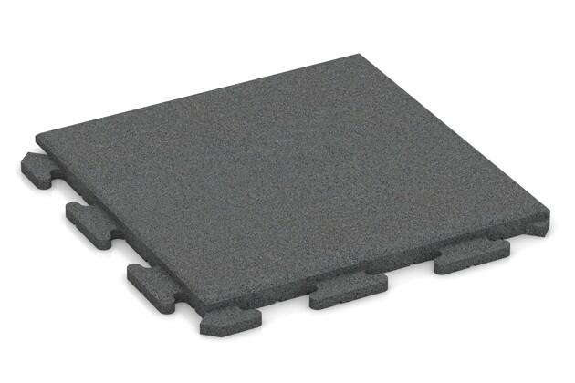 Fallschutz-Puzzlematte von WARCO im Farbdesign schiefergrau mit den Abmessungen 500 x 500 x 30 mm. Produktfoto von Artikel 1268 in der Aufsicht von schräg vorne.