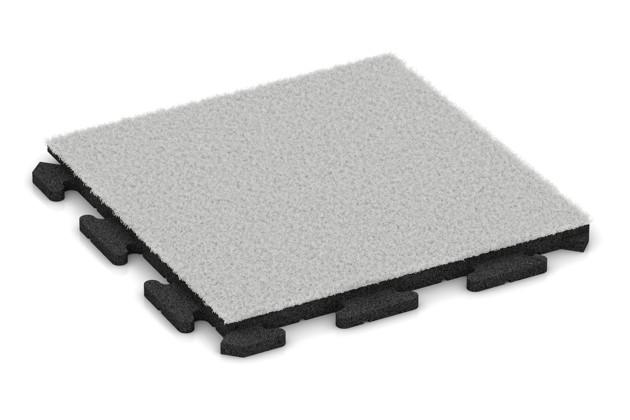 Kunstgras-Fitnessplatte von WARCO im Farbdesign Kunstgras weiß mit den Abmessungen 500 x 500 x 30 mm. Produktfoto von Artikel 1243 in der Aufsicht von schräg vorne.