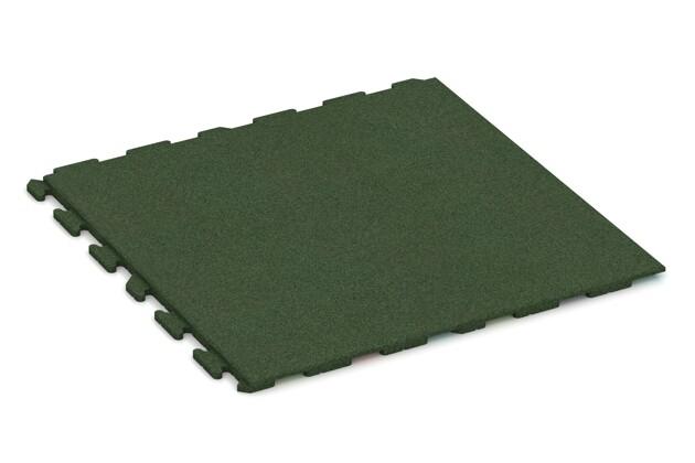 Spiel-Bodenbelag von WARCO im Farbdesign grasgrün mit den Abmessungen 1000 x 1000 x 30 mm. Produktfoto von Artikel 1620 in der Aufsicht von schräg vorne.