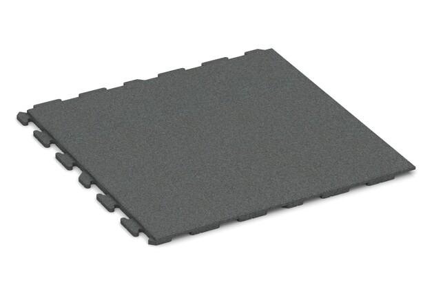 Spiel-Bodenbelag von WARCO im Farbdesign schiefergrau mit den Abmessungen 1000 x 1000 x 30 mm. Produktfoto von Artikel 1621 in der Aufsicht von schräg vorne.