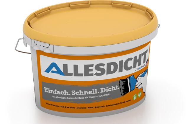 ALLESDICHT von WARCO im Farbdesign grau mit den Abmessungen 3 kg. Produktfoto von Artikel 0002 in der Aufsicht von schräg vorne.