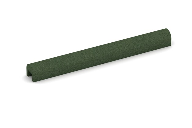 Bordsteinkappe von WARCO im Farbdesign grasgrün mit den Abmessungen 1000 x 100 x 100 x 50 mm. Produktfoto von Artikel 2582 in der Aufsicht von schräg vorne.