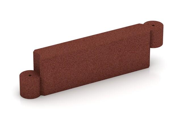 Randstein Kettenelement von WARCO im Farbdesign ziegelrot mit den Abmessungen 1000 x 300 x 154 mm. Produktfoto von Artikel 2573 in der Aufsicht von schräg vorne.