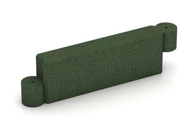 Randstein Kettenelement von WARCO im Farbdesign grasgrün mit den Abmessungen 1000 x 300 x 154 mm. Produktfoto von Artikel 2576 in der Aufsicht von schräg vorne.