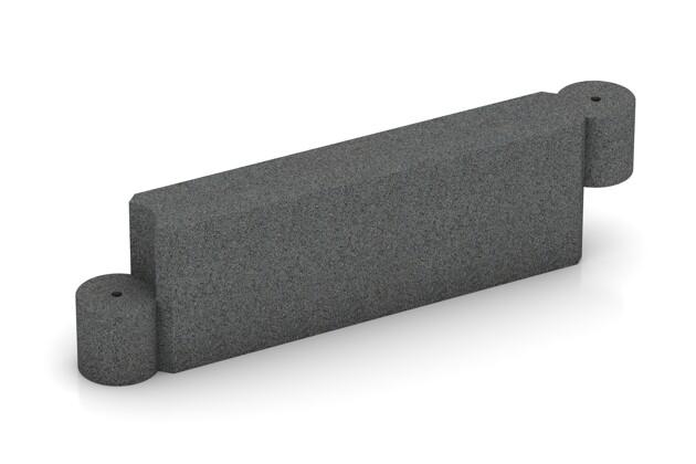 Randstein Kettenelement von WARCO im Farbdesign schiefergrau mit den Abmessungen 1000 x 300 x 154 mm. Produktfoto von Artikel 2577 in der Aufsicht von schräg vorne.